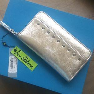 🆕 Sam Edelman large silver wallet/ clutch